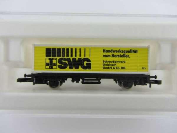 Märklin 8615 Containerwagen SWG Sondermodell von der Sonne verblasst mit Box