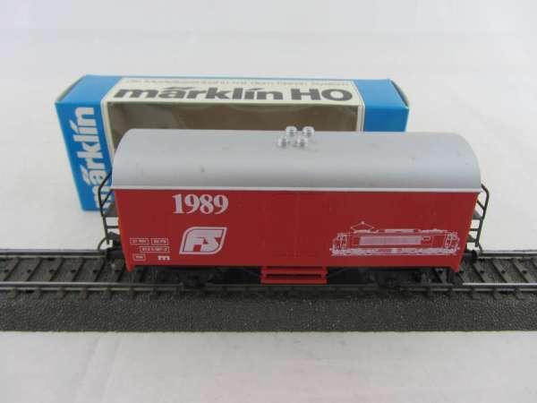 Märklin Basis 4415 Werbewagen 1989 FS-Sondermodell rot mit OVP