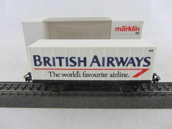 Märklin Basis 4481 Containerwagen BRITISH AIRWAYS Neu und mit Verpackung