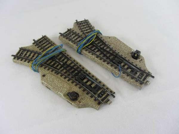 Märklin 5117 Weichen-Paar r 360 mm für M-Gleis, guter Zustand, ohne Verpackung