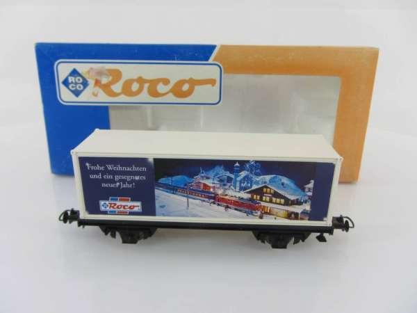 Basis ROCO Containerwagen mit Beschriftung Frohe weihnachten mit Verpackung