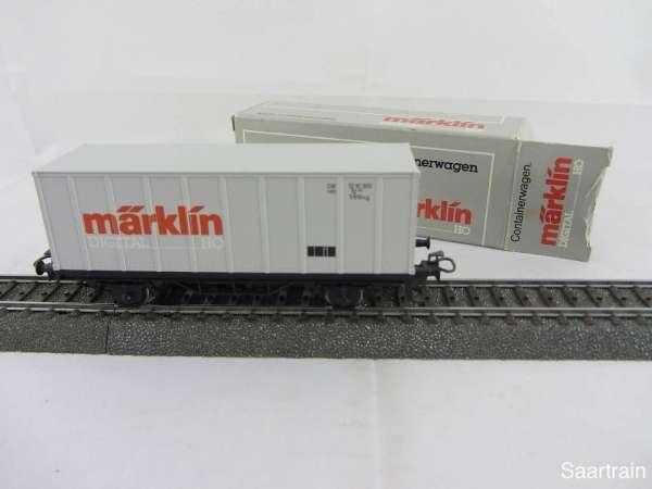 Märklin Basis 4481 Containerwagen Märklin DIGITAL neuwertig und mit grauer OVP