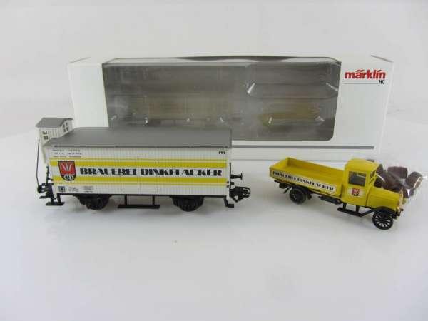Märklin 94414 Bierwagen Basis 4680 Dinkelacker mit LKW, neuwertig und originalverpackt