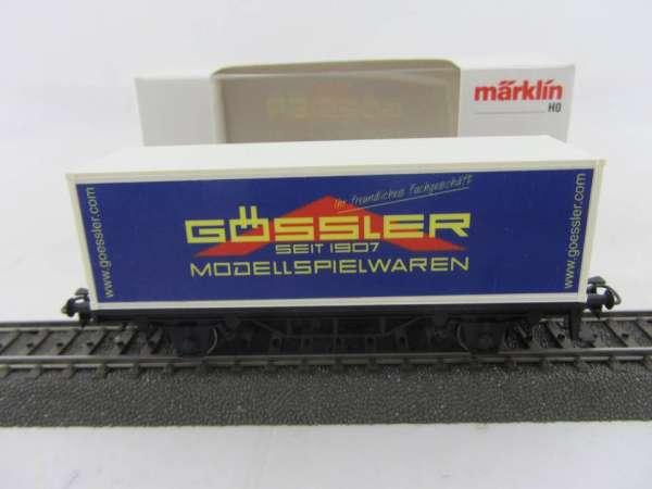 Märklin Basis 4481 Containerwagen Modellspielwaren Gössler, neuwertig und mit OVP