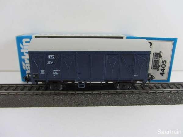 Märklin 4405 Gedeckter Güterwagen der CFL blau Luxembourg neuwertig und m. OVP