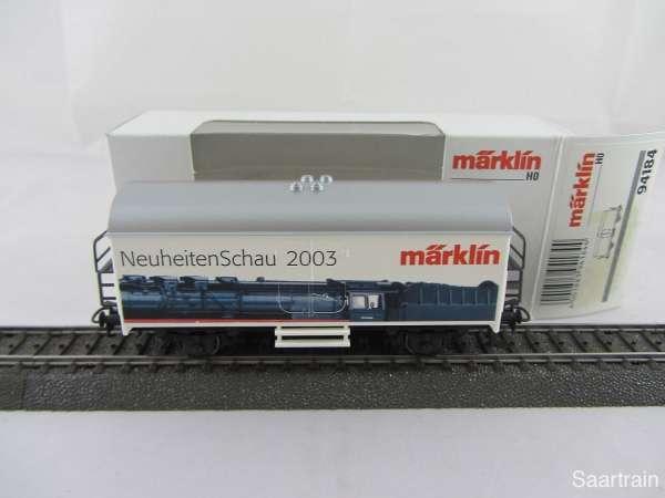 Märklin Basis 4415 Werbewagen Neuheiten Schau 2003 94184 Neu mit OVP