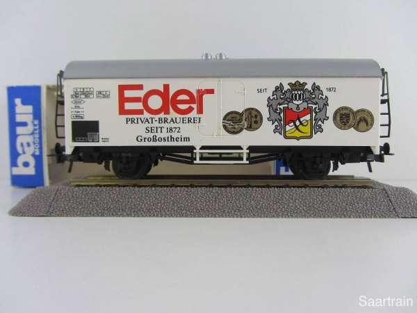 Baur Nr. 127 HO Bierwagen Privatbrauerei Eder weiß Neu mit Originalverpackung