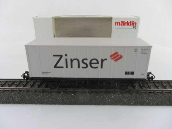 Märklin Basis 4481 Containerwagen Zinser Ebersbach mit OVP