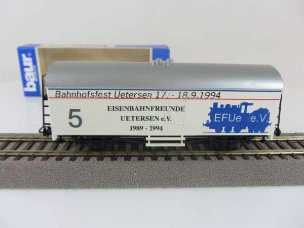Baur HO Kühlwagen Eisenbahnfreunde Uetensen mit Verpackung