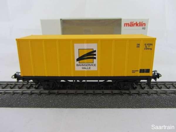 Basis 4481 Containerwagen Bahnservice Halle dunkelgelb Neu mit Verpackung
