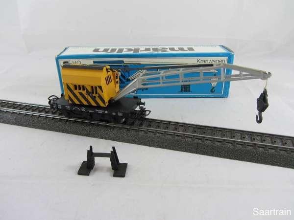 Märklin 4671 Kranwagen gelb (IV) gebraucht guter Zustand mit Originalverpackung