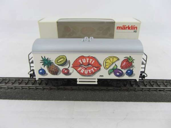 Märklin Basis 4415 Kühlwagen TUTTI FRUTTI SOMO neuwertig und mit Verpackung