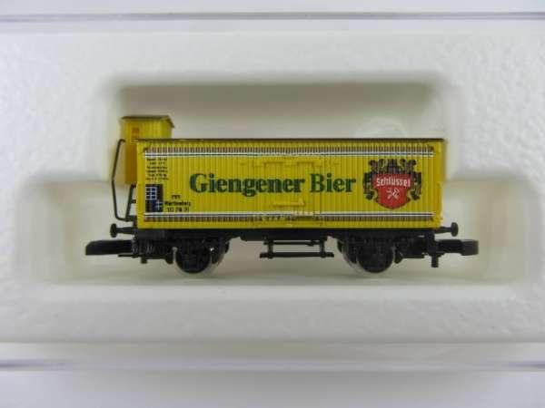 Märklin 8661 Bierwagen G10 mit Bremserhaus Giengener Bier mit OVP