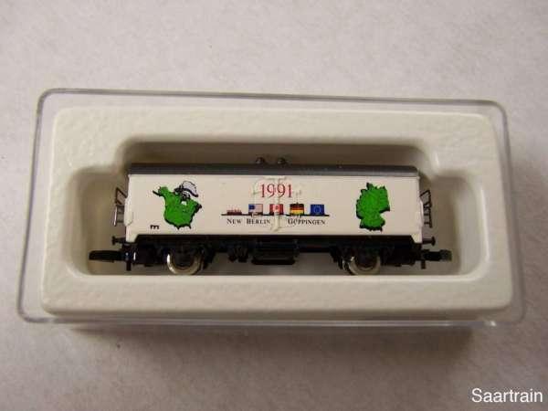 Märklin 8600 Kühlwagen New Berlin / Göppingen 1991 USA mit Originalverpackung