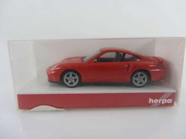 HERPA 22835 1:87 Porsche Turbo rot neu mit OVP