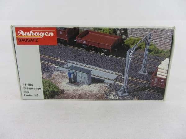 Auhagen 11404 HO-Bausatz Gleiswaage mit Lademaß 1:87 neu und mit Verpackung