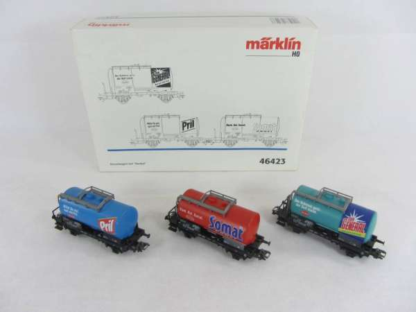 Märklin 46423 Kesselwagen Set Henkel 3 Wagen neuwertig mit Originalverpackung
