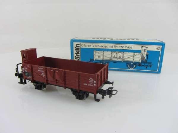 Märklin 4696 offener Güterwagen der DR braun sehr gut mit Verpackung
