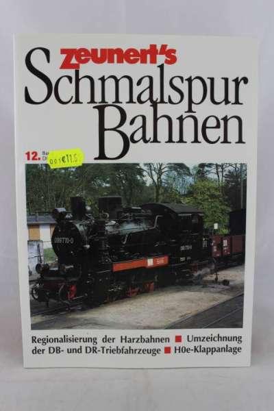 """Eisenbahnbuch """"Zeunert`s Schmalspur Bahnen"""" Band 12"""