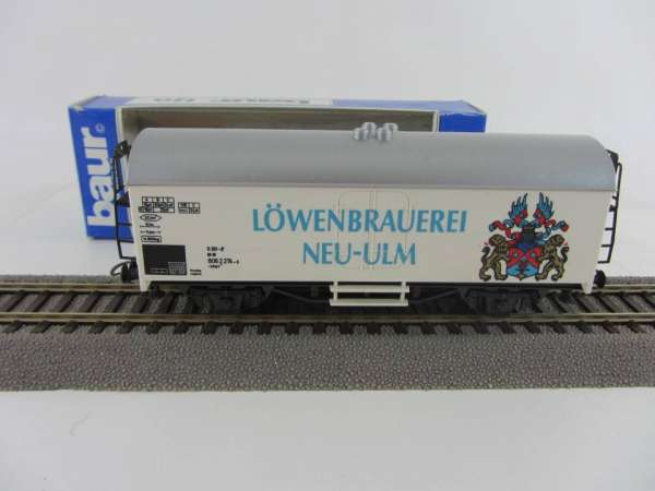 Baur Nr. 114 HO Bierwagen Löwenbrauerei Neu-Ulm, sehr gut mit Originalverpackung