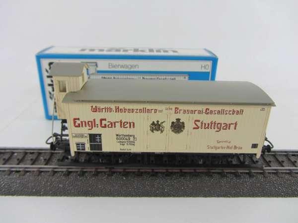 Märklin 4677 Bierwagen G10 Engl. Haus Stuttgart neuwertiger Zustand und mit OVP