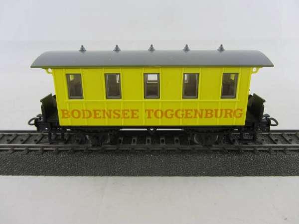 Basis 4107 Personenwagen Bodensee-Toggenburg hellgelb, Sondermodell, neuwertig ohne Verpackung