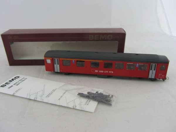 Bemo 3277 429 Personenwagen AB409 der SBB rot, 1./2.Klasse, Neu-Zustand mit OVP