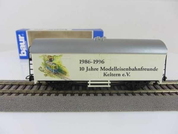 Baur HO Kühlwagen Modelleisenbahnfreunde Keltern mit Verpackung