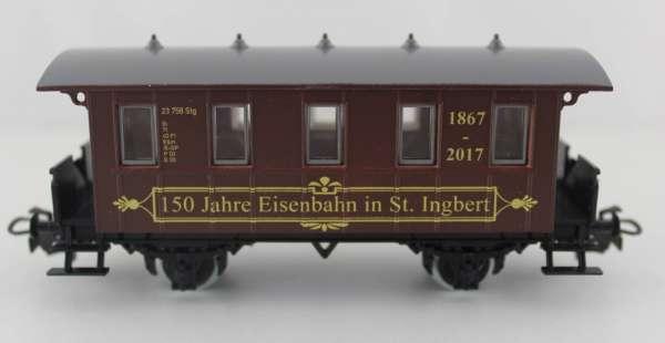 Basis 4107 Personenwagen 150 Jahre Eisenbahn in St.Ingbert, braun, Sondermodell