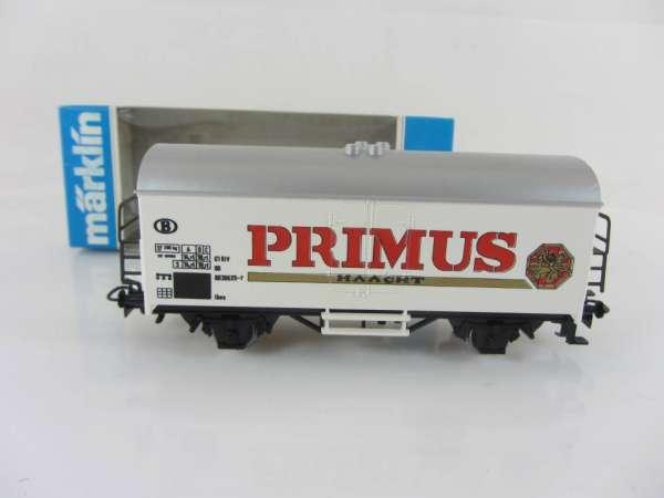 Märklin Basis 4415 Bierwagen Primus Bier Belgien, SOMO neuwertig mit OVP