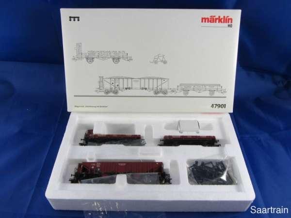 Märklin 47901 Gleisbauzug mit Draisine DR 3 Güterwagen neu und mit OVP