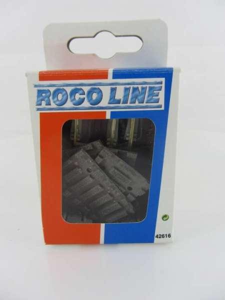 ROCO Line Gleis 42616, 4 Gleisabgänge zu Drehscheibe, neuwertiger Zustand