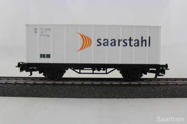 """Basis 4481 Containerwagen """"Saarstahl"""" Sondermodell, neu mit Verpackung"""