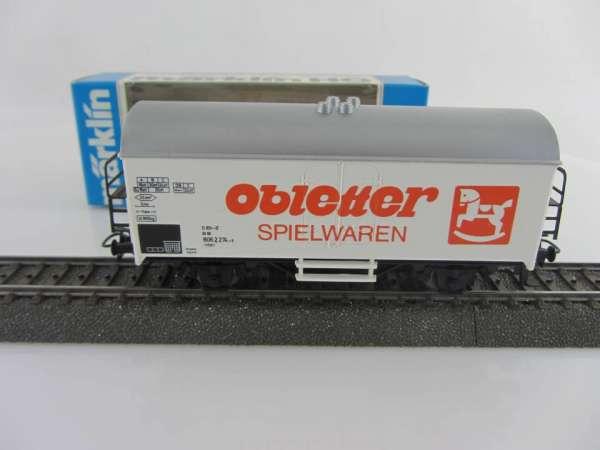 Märklin Basis 4415 Werbewagen Obletter Spielwaren Sondermodell, neu und mit OVP