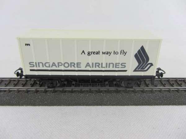 Märklin Basis 4481 Containerwagen SINGAPORE AIRLINES gebraucht ohne Verpackung