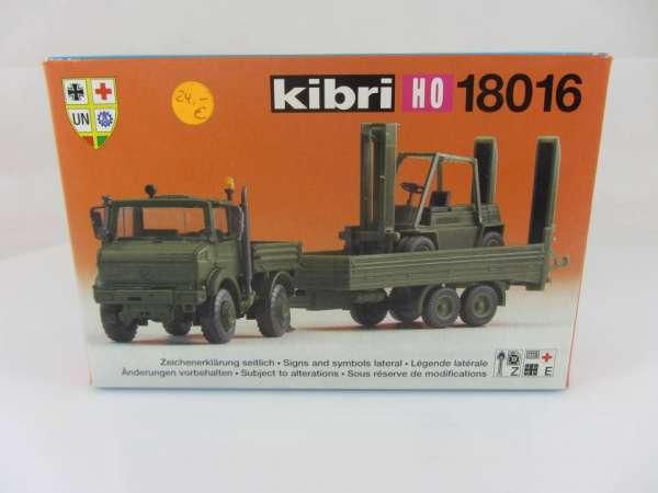 KIBRI 18016 Unimog mit Anhänger 1:87 neu und mit Verpackung