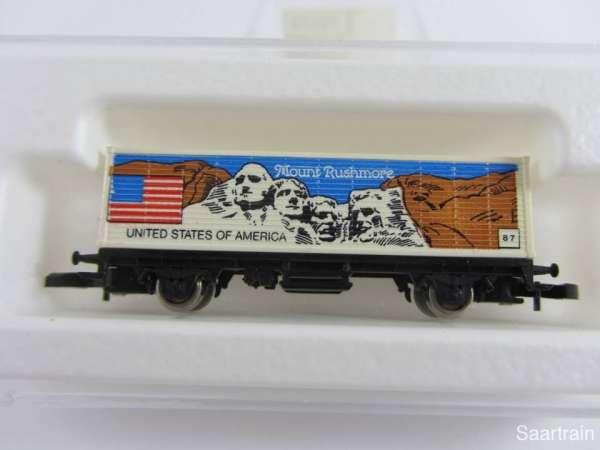 Märklin 8615 Containerwagen Mount Rushmore USA Flaggenserie mit Original Verp.