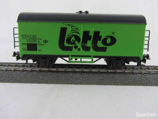 Märklin Basis 4415 Kühlwagen Lotto Belgien grün SOMO gebraucht ohne Verpackung