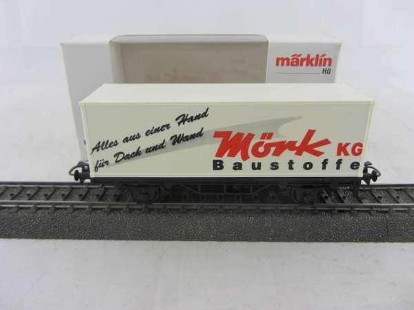Basis 4481 Containerwagen Mörk Baustoffe mit Verpackung