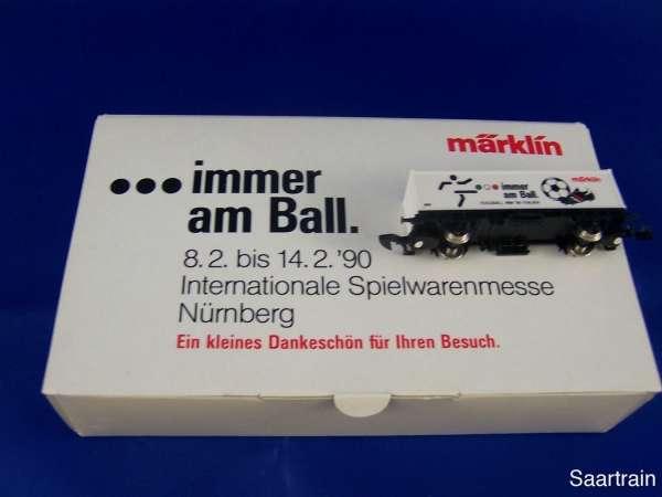 Märklin Sondermodell Spielwarenmesse 1990 Containerwagen Fussball mit OVP