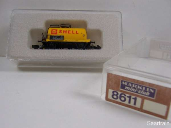 Märklin 8611 Kesselwagen SHELL sehr alt 2 achsig altes Emblem mit Verpackung
