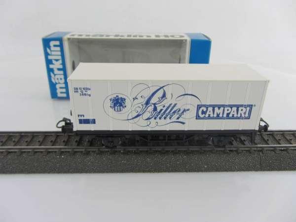 Märklin Basis 4481 Containerwagen Campari Bitter Italien neuwerig und mit OVP
