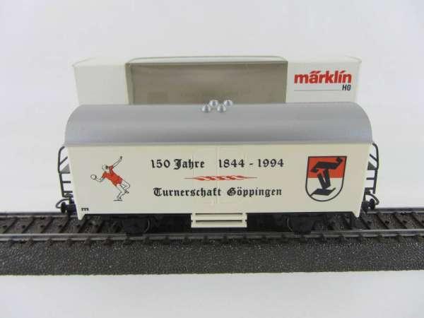 Märklin Basis 4415 Werbewagen Turnerschaft Göppingen 1844-1994 Sondermodell Neu mit OVP