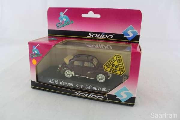 1:43 Solido 4538 Renault 4cv Decourvrable