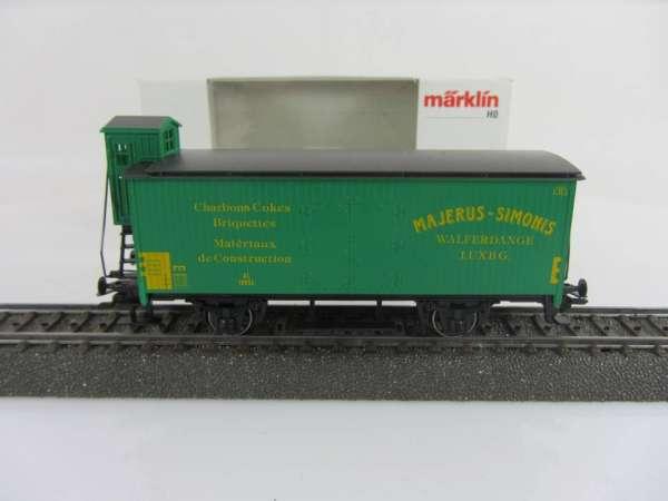 Märklin Basis 4680 Güterwagen Majerus Simonis grün CFL Sondermodell mit OVP