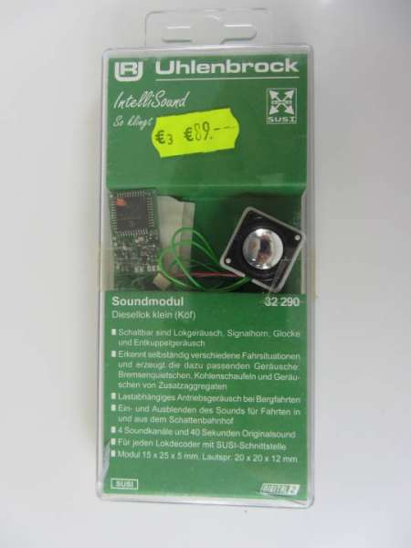 Uhlenbrock 32290 Soundmodul (Decoder mit Lautsprecher) neu und originalverpackt