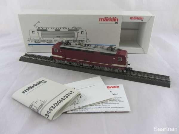 Märklin 3443 Baureihe 243 897 6 der DR in rot sehr guter Zustand und mit OVP