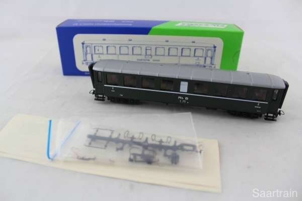 STL-Models 2202/2 Personenwagen 2222 der RHB in grün, Neu-Zustand mit OVP