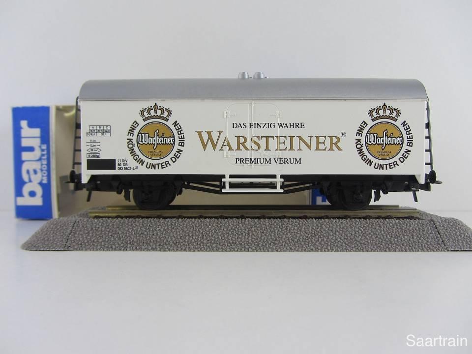 Baur Nr 210 HO Bierwagen Warsteiner Bier weiß Neu mit Originalverpackung