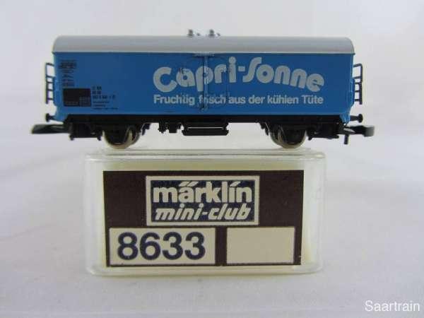 Märklin 8633 Kühlwagen Capri Sonne blau sehr guter Zustand mit Verpackung